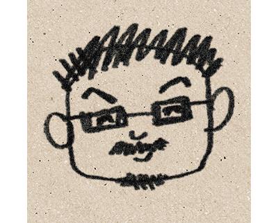 井内克信の似顔絵